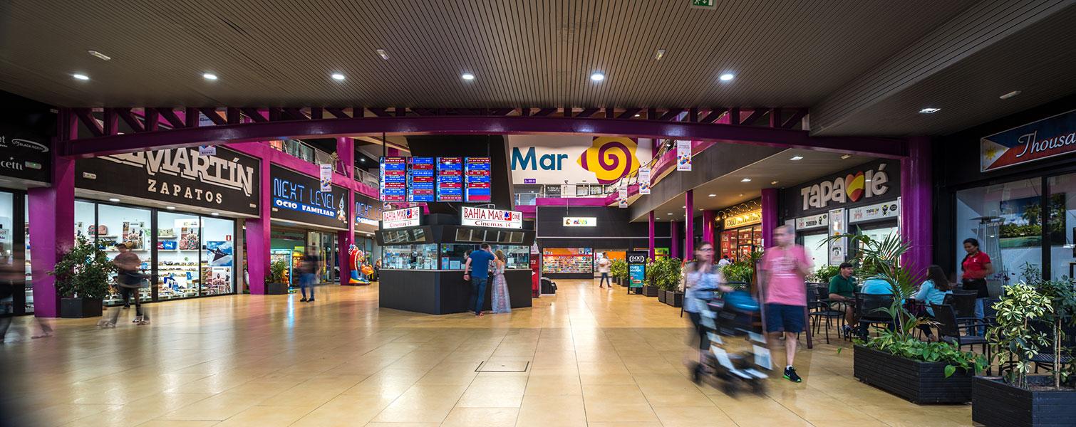 Interior Centro comercial Bahía Mar - Grupo Soluciones